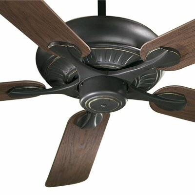 52 Pinnacle 5-Blade Patio Ceiling Fan Finish: Old World with Walnut Blades