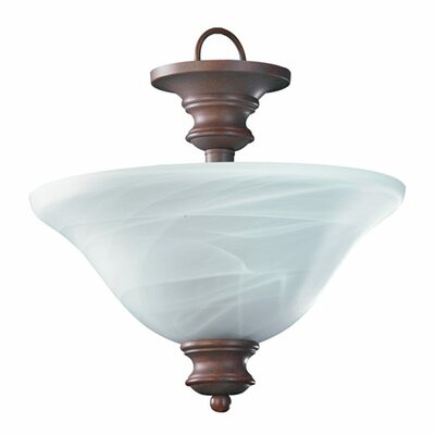 Madison 3-Light Convertible Inverted Pendant Finish: Old World