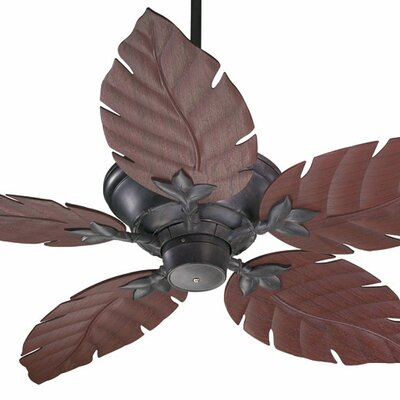 52 Santino 5-Blade Patio Ceiling Fan Color: Toasted Sienna with Rosewood Blades