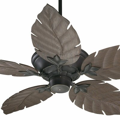 52 Santino 5-Blade Patio Ceiling Fan Color: Old World with Walnut Blades