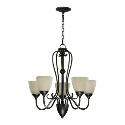 Powell 5-Light Shaded Chandelier