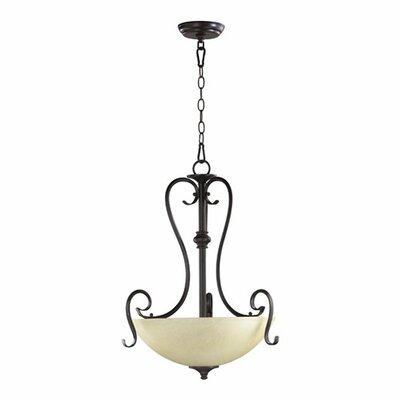 Powell 3-Light Inverted Pendant Finish: Toasted Sienna