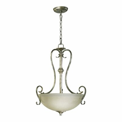 Powell 3-Light Inverted Pendant Finish: Mystic Silver