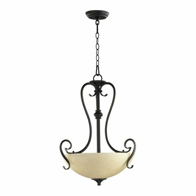 Powell 3-Light Inverted Pendant Finish: Old World