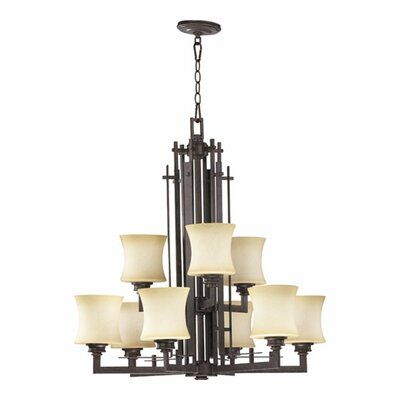 Prairie 9-Light Shaded Chandelier