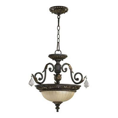Ancram Convertible Inverted Pendant Size: 18 H x 17 W