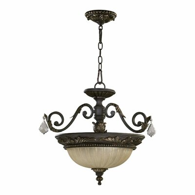 Ancram Convertible Inverted Pendant Size: 16.75 H x 20.75 W