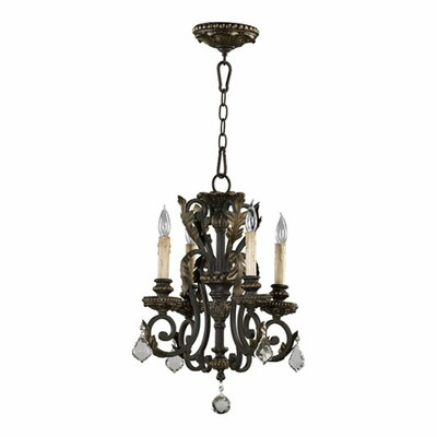 Ancram 4-Light Crystal Chandelier