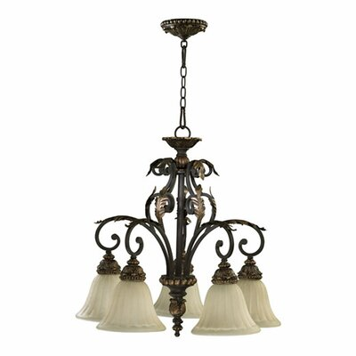 Ancram 5-Light Shaded Chandelier
