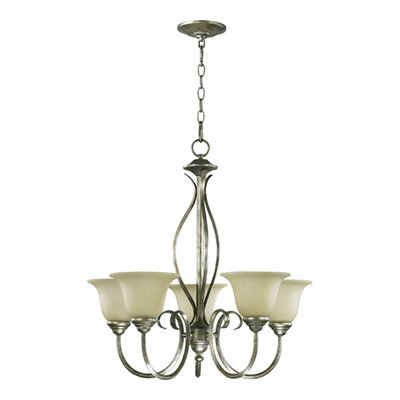 Spencer 5-Light Shaded Chandelier Finish: Old World