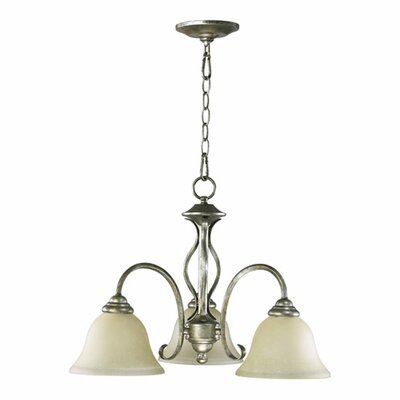 Spencer 3-Light Shaded Chandelier Finish: Old World