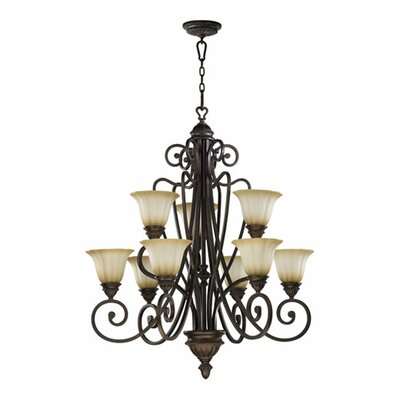 Summerset 6-Light Shaded Chandelier Finish: Toasted Sienna