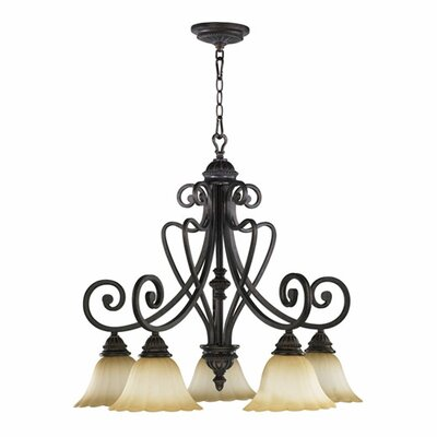 Summerset 5-Light Shaded Chandelier Finish: Toasted Sienna