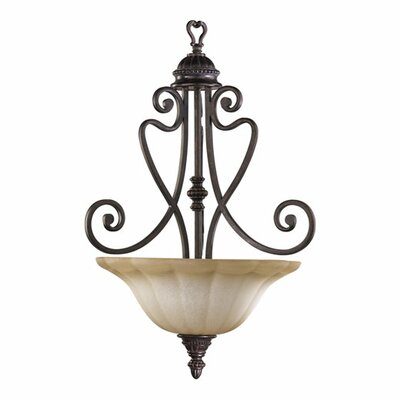 Summerset Inverted Pendant Size: 26.5 H x 18 W, Finish: Toasted Sienna