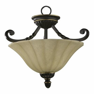 Tribeca 2-Light Convertible Inverted Pendant Finish: Old World