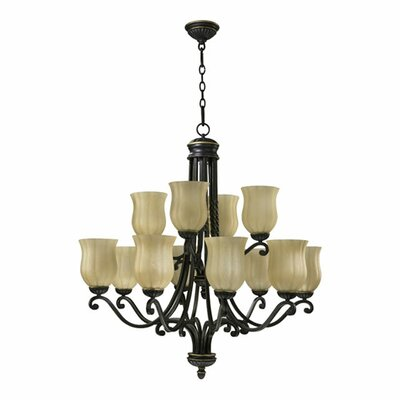 Tribeca 12-Light Shaded Chandelier Finish: Old World