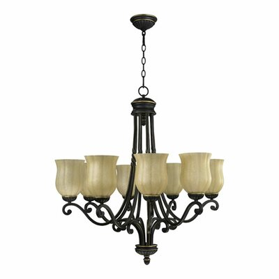 Tribeca 8-Light Shaded Chandelier Finish: Old World