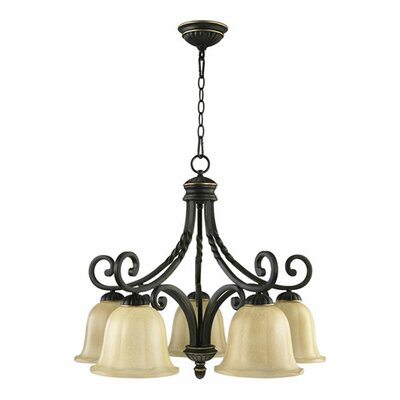 Tribeca 5-Light Shaded Chandelier Finish: Old World