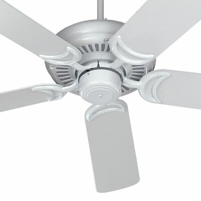 52 Venture 5-Blade Ceiling Fan Finish: White with White / Washed Oak Blades
