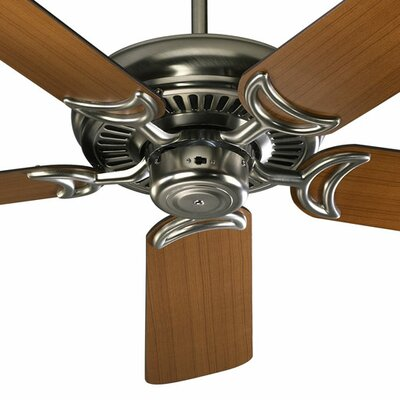 52 Enyeart 5-Blade Ceiling Fan Finish: Satin Nickel with Teak / Walnut Blades