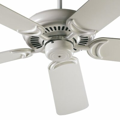 52 Venture 5-Blade Ceiling Fan Finish: Antique White with Antique White / Oak Blades