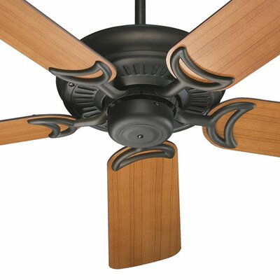 52 Venture 5-Blade Ceiling Fan Finish: Oiled Bronze with Teak / Walnut Blades