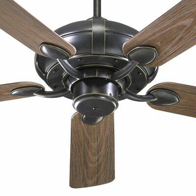 52 Adirondacks 5-Blade Patio Ceiling Fan Finish: Old World with Walnut Blades