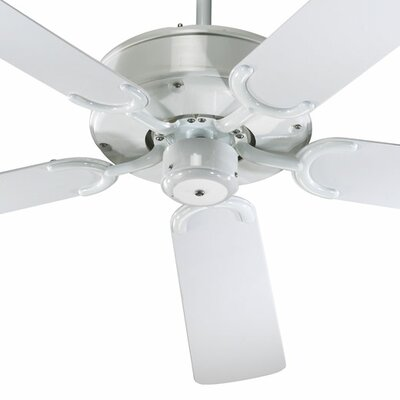 52 All-Weather Allure 5-Blade Patio Ceiling Fan Finish: White with White Blades