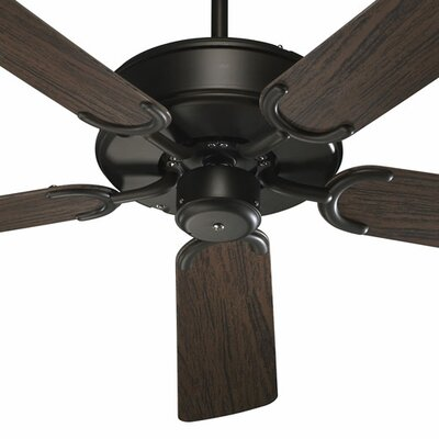 52 All-Weather Allure 5-Blade Patio Ceiling Fan Finish: Oiled Bronze with Walnut Blades