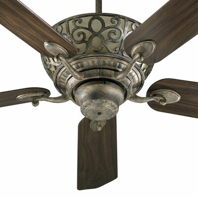 52 Cimarron 5-Blade Ceiling Fan Finish: Mystic Silver with Mystic Silver/Walnut Blades