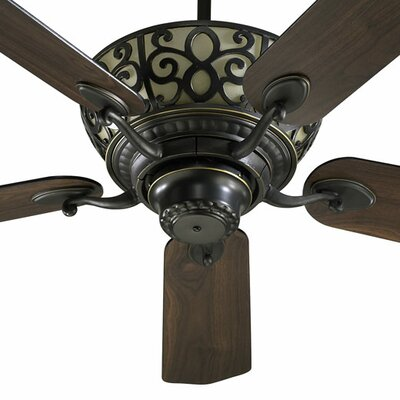 52 Cimarron 5-Blade Ceiling Fan Finish: Old World with Old World/Walnut Blades