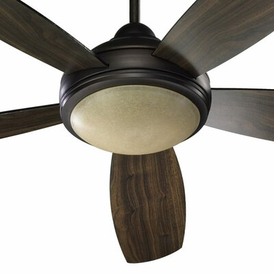 52 Colton 5-Blade Ceiling Fan Finish: Oiled Bronze with Teak / Walnut Blades