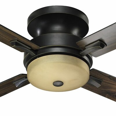 52 Davenport 4-Blade Ceiling Fan Finish: Old World with Old World/Walnut Blades