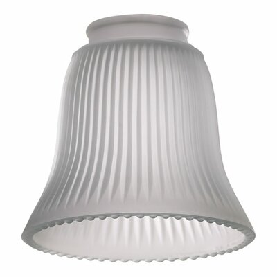 Frost Ribbed 5 Glass Bell Pendant Shade