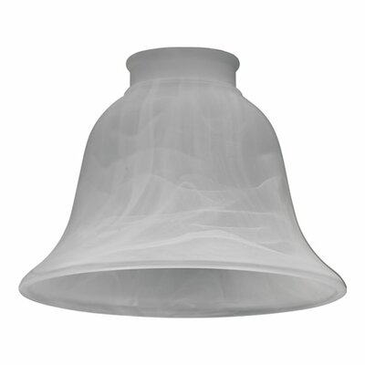 Faux Alabaster 6 Glass Bell Pendant Shade