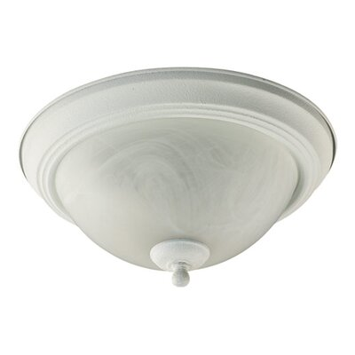 1-Light Flush Mount Size: 6.75 H x 15.5 W x 15.5 D, Finish: Textured White