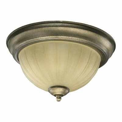 Flush Mount Size: 11.5, Finish: Toasted Sienna