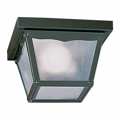 Cage 2-Light Flush Mount Size: 5.25 H x 9.25 W x 9.25 D, Finish: Gloss Black