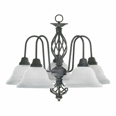 Juliette 5-Light Shaded Chandelier Finish: Antique Silver