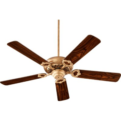 52 Deweese Antik 5-Blade Ceiling Fan Finish: Vintage Gold Leaf
