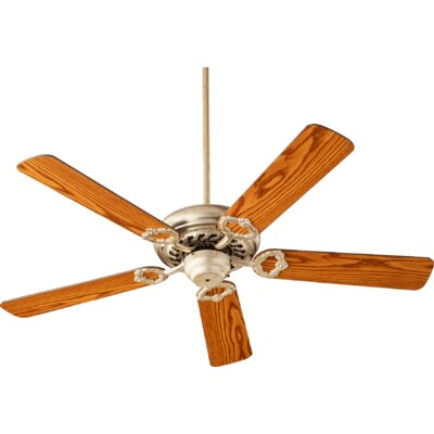 52 Deweese Antik 5-Blade Ceiling Fan Finish: Aged Silver Leaf