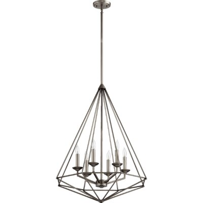 Bennett 8-Light Candle-Style Chandelier Finish: Antique Silver