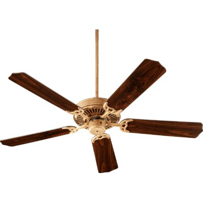 52 Capri I 5-Blade Ceiling Fan Finish: Vintage Gold with Walnut Blades