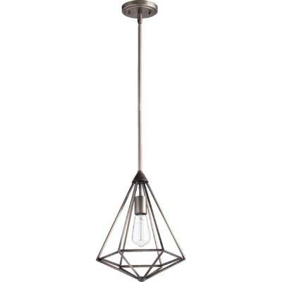 Bennett 1-Light Foyer Pendant Finish: Antique Silver