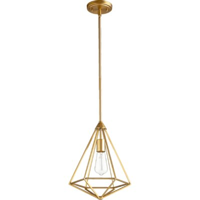 Bennett 1-Light Foyer Pendant Finish: Aged Brass