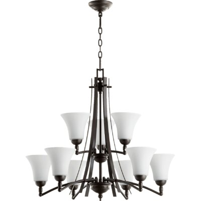 Eastchester Modern 9-Light Shaded Chandelier