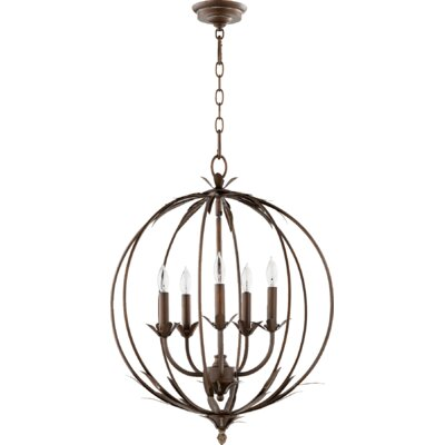 Flora 5-Light Globe Pendant Finish: Vintage Copper
