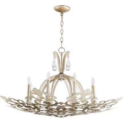Charlton 8-Light Candle-Style Chandelier Finish: Aged Silver Leaf