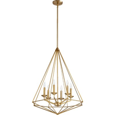 Bennett 6-Light Foyer Pendant Finish: Aged Brass