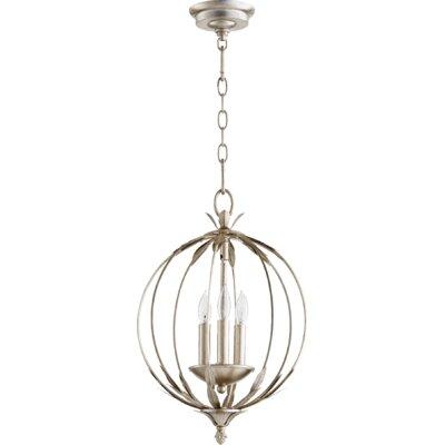 Flora 3-Light Globe Pendant Finish: Aged Silver Leaf